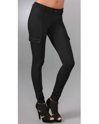 Vince | Black Cargo Pocket Leggings | Lyst