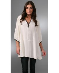 Winter Kate | Natural Isolde Silk-crepe Tunic Top | Lyst