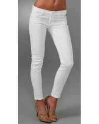 7 For All Mankind | White Roxanne Flood Jeans | Lyst