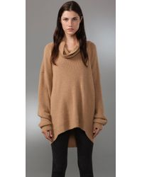 Alexander Wang | Natural Cowl-neck Alpaca Sweater | Lyst