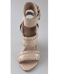 Alexander Wang | Natural Kasia Whipstitch Wedge | Lyst
