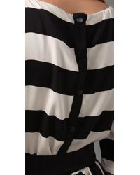 Alice + Olivia - Black Striped Emmie Dress - Lyst