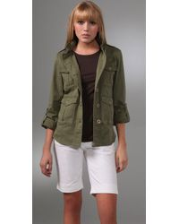 Alice + Olivia | Green Anderson Military Jacket | Lyst