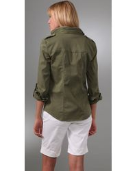 Alice + Olivia - Green Anderson Military Jacket - Lyst