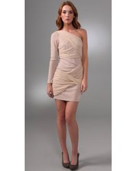 Alice + Olivia | Natural Long-sleeve Goddess Dress | Lyst