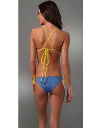 Basta Surf - Blue Raglan Reversible Bikini - Lyst