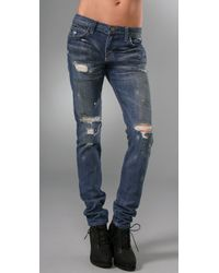 Current/Elliott - Blue The Super Slouchy Skinny Jeans - Lyst