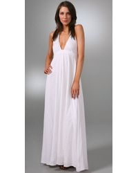 Dallin Chase | White Halter Long Dress | Lyst