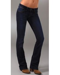 40f024dd878fd Lyst - Dl1961 Milano Petite Boot Cut Jeans in Black
