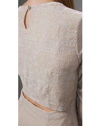 Dolce Vita - Natural Velvet Dress - Lyst