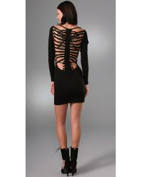 DSquared²   Black Spinal Cord Dress   Lyst