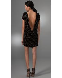 Foley + Corinna | Black Burnout Leopard Dress | Lyst