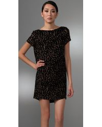 Foley + Corinna - Black Burnout Leopard Dress - Lyst