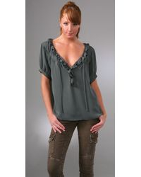 Joie | Green Simonie Top | Lyst