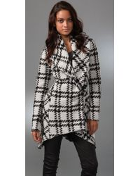 L.A.M.B. | White Plaid Shawl Collar Jacket | Lyst