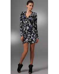 L.A.M.B. | Black Printed Tunic Dress | Lyst