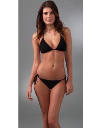 L*Space | Black Risque Bikini Top | Lyst