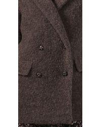 Madewell - Purple Boucle Coat - Lyst
