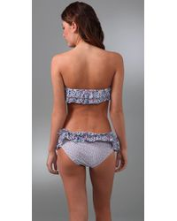 Marc By Marc Jacobs | Gray Folly Floral Ruffle Bandeau Bikini Top | Lyst