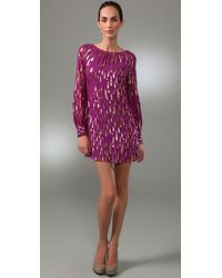 MILLY | Purple Bridget Dress | Lyst