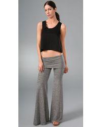 Nightcap - Gray Fold Over Flare Pants - Lyst