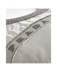 Prada - Sport White Patent Cap-toe Ballet Flats - Lyst