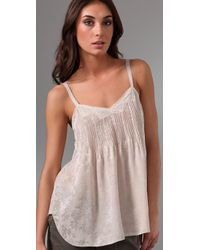 Rebecca Taylor - Natural Patch & Lace Cami - Lyst
