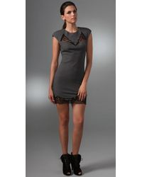 Robert Rodriguez | Gray Peek Through Lace Dress | Lyst