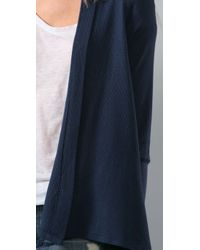 Splendid - Blue Thermal Cardigan - Lyst