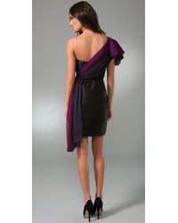 Thread Social | Black One Shoulder Ombre Dress | Lyst