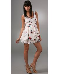 Thread Social | White Tulip Print Dress | Lyst