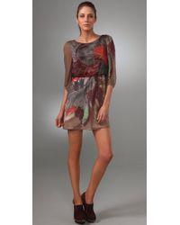 Tibi - Multicolor Viola 3/4 Sleeve Dress - Lyst