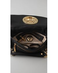 Tory Burch - Black Amanda Logo Clutch - Lyst