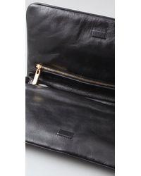 Tory Burch   Black Reva Leather Clutch   Lyst