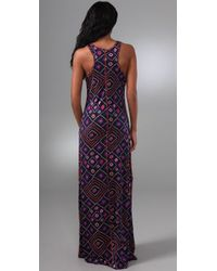 Tory Burch - Blue Clarimond Long Dress - Lyst