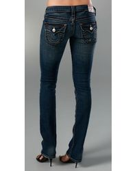 True Religion - Billy Pony Dark Blue Jeans - Lyst
