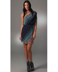 Twelfth Street Cynthia Vincent - Blue One Shoulder Ombre Dress - Lyst