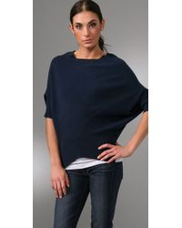 Vince - Blue Checkerboard Cashmere Sweater - Lyst