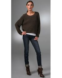 Vince - Brown Thermal Chubby Sweater - Lyst