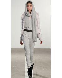 Wayne | White Faux Fur Asymmetrical Jacket | Lyst