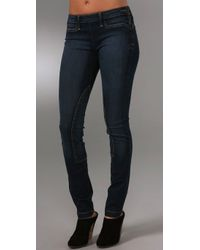 William Rast | Blue Evans Rider Skinny Jeans with Side Zip | Lyst