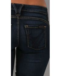 William Rast - Blue Evans Rider Skinny Jeans with Side Zip - Lyst