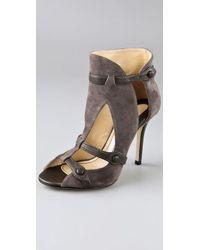 Camilla Skovgaard | Gray T Strap Corset Suede Sandals | Lyst