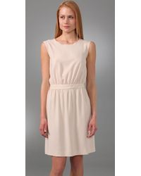 JOSEPH - Natural Skin Vanessa Sleeveless Crepe Dress - Lyst