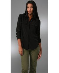 Madewell | Black Silk Bromley Blouse | Lyst
