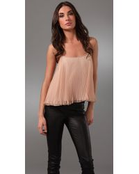Torn By Ronny Kobo | Pink Nadya Pleated Top | Lyst