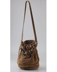 Alexander Wang - Brown Diego Bucket Bag in Cut Velvet Leather - Lyst