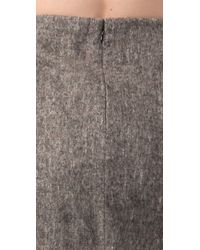 Alexander Wang - Gray Fitted Miniskirt with Tailcoat Detail - Lyst