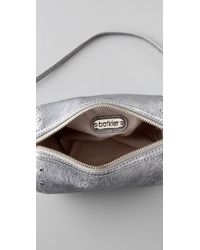 Botkier | Silver Leather Night Out Crossbody Clutch | Lyst