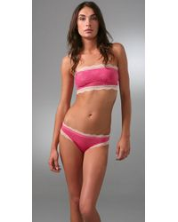 Calvin Klein | Pink Bandeau Bra with Lace | Lyst